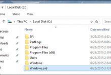تصویر از پوشه Windows.old چیست؟ نحوه حذف فولدر Windows.old
