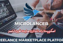تصویر از اسکریپت راه اندازی سایت فری لنسر Microlancer