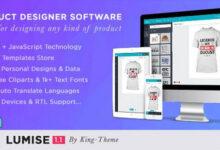 تصویر اسکریپت طراحی آنلاین محصول Lumise