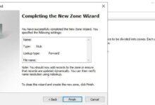 تصویر آموزش تنظیم و کانفیگ Stub Zone در ویندوز سرور ۲۰۱۹