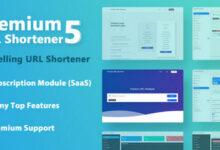 تصویر اسکریپت کوتاه کننده لینک Premium URL Shortener نسخه ۵٫۹٫۱