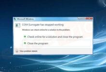 تصویر حل ارور has stopped working در بازی و نرم افزار های ویندوز ۷ و ۸ و ۱۰