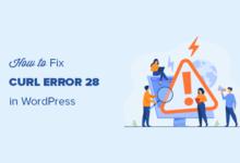 تصویر نحوه رفع خطای cURL 28: زمان اتصال پس از X میلی ثانیه تمام شد
