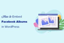 تصویر نحوه قرار دادن آلبوم های فیس بوک در وردپرس