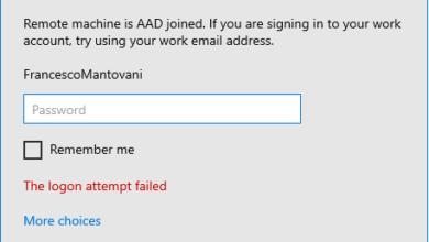 تصویر رفع مشکل ارور The logon attempt failed هنگام اتصال Remote Desktop