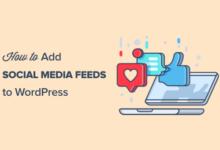 تصویر چگونه فیدهای رسانه های اجتماعی خود را به وردپرس اضافه کنیم (مرحله به مرحله)
