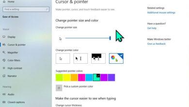 تصویر آموزش تغییر نشانگر ماوس در ویندوز ۱۰