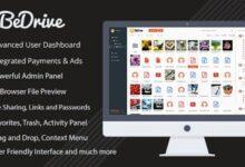 تصویر اسکریپت آپلود سنتر و اشتراک گذاری فایل BeDrive نسخه ۲٫۲٫۵
