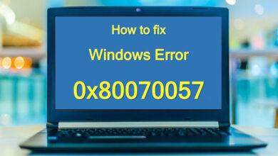 تصویر آموزش رفع ارور یا مشکل ۰x80070057 در ویندوز ۱۰ و ۸ و ۷
