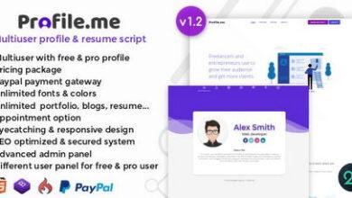 تصویر اسکریپت رزومه ساز و پروفایل دهی چند کاربره Profile.me