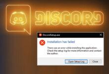 تصویر آموزش رفع ارور Installation has failed دیسکورد در ویندوز ۱۰/۸/۷