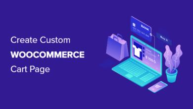 تصویر نحوه ایجاد یک صفحه سبد خرید WooCommerce (بدون کدگذاری)