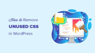 تصویر نحوه حذف CSS استفاده نشده در وردپرس (راه صحیح)