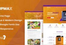 تصویر قالب مدرن و واکنشگر Supmax وردپرس نسخه ۱٫۰